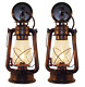 2 Wall Mounted Lantern wall Sconce Large Rustic-Muskoka Lifestyle Products USA