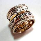 Gorgeous Hebrew spinner ring for woman designer rings silver and gold Israel