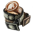AUTHENTIC MEXICAN WESTERN cinto charro piteado Hand-braided Horse BELTS