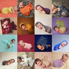 Newborn Baby Photography Props Blanket Rayon Stretch Knit Wraps 40*150cm NEW F&K