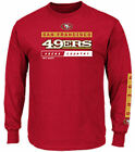 San Francisco 49er Scarlet Primary Receiver 2 Long Sleeve Football T Shirt $26.95 USD on eBay
