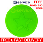 Fluorescent Neon Green Star Embossed Plastic Tokens 29mm Event NYE Hen Do Party