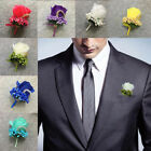 Внешний вид - Wedding Wrist Corsage Bracelet Flowers Corsage Groom Man Boutonniere Prom Party