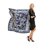 "Women's Fashion Paisley Print Scarf Blue Large Blanket Shawl Hijab Wraps 51"" 51"""