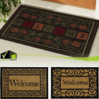 WELCOME DOOR MAT 20 x 30'' Heavy Duty Slip Resistant Rubber Back Stain Resistant