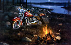 Harley Davidson Motorcycle Picture Poster