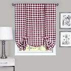 Decorative Styles Achim Home Furnishings Buffalo Check Window Curtain Home Decor