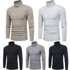 Mens Thermal Underwear Long Sleeve Turtle Neck Top Ski Warm Winter T Shirt