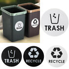 1/4PCS Recycle and Trash Sticker Organize Trash Garbage Containers Home Decor