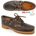 NEW! TIMBERLAND WOMEN'S HERITAGE NOREEN 3 EYE HANDSEWN BROWN BOAT SHOES 51304 US