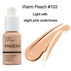 PHOERA Foundation Concealer Makeup Full Coverage Matte Brighten Long Lasting UK <br/> UK STOCK💖100%AUTHENTIC💥SAMEDAY DISPATCH💝80% OFF