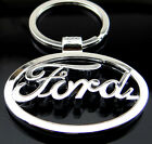 3D Car Logo Metal Titanium Key Chain Car Ring Keyfob Trapezoid Keyrings Gifts UK