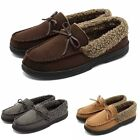 Mens Fur Lining Suede Flats Casual Shoes Winter Slip On Driving Loafers Comfort