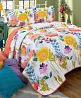 Watercolor Reversible Quilt Shams Floral Flower Colorful Bedroom Bed Bedspreads image