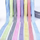 Gingham Ribbon 10/50/100Yards Mixed Colors Christmas 6 10 15 25mm 8 Colours Bows