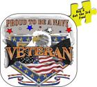 Proud To Be A US NAVY VETERAN Eagle Special Decal Sticker p381