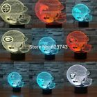 NFL Rugby Football Helmet Cap 3D LED Night Light Table Lamp 7 Color Xmas Gift $26.58 USD on eBay