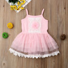 US Infant Toddler Baby Girl Princess Party Skirt Kids Tutu Flower Dress 1-6Years