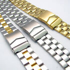 Stainless Steel Folding Deployment Watch Bracelet 18mm 20mm 22mm 3 Colours C091