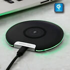 64ED QC charging holder QI Wireless Charge stand pad ultra-thin for Samsung $7.39 USD on eBay