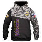 MINNESOTA VIKINGS Hoodie Zip Up Zipper Hooded Pullover S-5XL Football Fans NEW on eBay