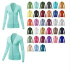 FashionOutfit Women's Causal Snap Button Long Sleeves Everyday Cardigan