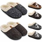 Men's Indoor Warm Thicken Slippers Adult Fur Lined Anti slip Home Cotton Shoes