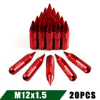 20 Aluminum 12x15 Extended Spike Lug Nuts For Mazda Honda Black red neo Chrome