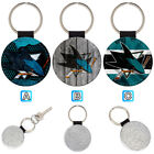 San Jose Sharks Leather Glitter Key Chain Ring Gift Silver Car $3.99 USD on eBay