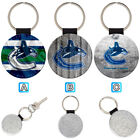 Vancouver Canucks Leather Glitter Key Chain Ring Gift Silver Car $3.99 USD on eBay