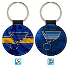 St. Louis Blues Leather Glitter Key Chain Ring Gift Silver Car $3.99 USD on eBay