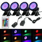 Submersible 36 LED RGB Pond Spot Lights Underwater Pool Fountain IP68+IR Remote $33.29 USD on eBay