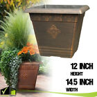 LARGE COPPER PLASTIC PLANTERS Outdoor Garden Flower Pots & Window Box Porch Yard