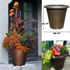 Copper Plastic LARGE Planters Outdoor Garden Flower Pots & Window Box Porch Yard