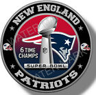New England Patriots Super Bowl Championship Vinyl Sticker, NFL Decal 7 sizes