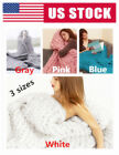 US Warm Large Sofa Chunky Knit Yarn Blanket Thick Bulky Knitted Throw Home Decor image