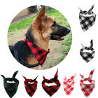 1pc Pet Puppy Dog Cat Bandanas Adjustable Plaid Print Dog Saliva Towel Collar