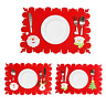 ElementDigital Table Placemats Tablemat for Christmas Holiday Placemat Santa Mat