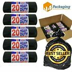 Heavy Duty Black Bin Bags Dustbin Liners 90 Litre Size Refuse Sacks Homeware