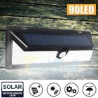 118/180 LED Solar Power Wall Light Motion Sensor Outdoor Wide Angle Lamp 3 Modes