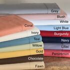 High Deep Pocket Soft 6 PC Bedding Sheet Set Cal-King Size Solid Colors image