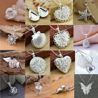 Elegant 925 Sterling Silver Crystal Pendant Chain Necklace Wedding Party Jewelry