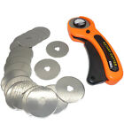 Bulk 10/5Pcs 45mm Carbon Steel Rotary Cutter Refill Blade Sewing Quilting Tools
