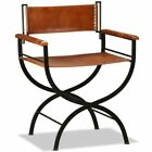 vidaXL-12x-Folding-Chair-Genuine-Real-Leather-Kitchen-Dinner-Dining-Room-Seat