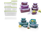 GOURMETmaxx Practical Storage Containers, Green-7 Pieces, Emerald, 22.5x16x8.5cm
