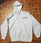 USPS POSTAL GRAY VINTAGE ZIPPY FULL ZIPPED HOODIE EMBROIDERED USPS LOGO ON CREST