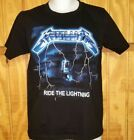 *METALLICA*...~RIDE THE LIGHTNING~.... Black Graphic T-Shirt  image