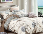 daisy print bedding set: 2pc/3pc/5pc duvet cover set or 4pc sheet set all sizes image