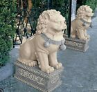 Chinese Foo Dog Statues Lawn Yard Garden Patio Decor Sculptures Animal Resin