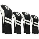 Vintage Golf Club Head Covers Driver, Fairway Woods, Hybrid 1,3,5,X Leather Look